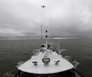 UMAR Tether UAS landing on boat