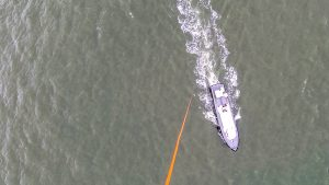 Tethered UAS in marine environment